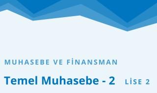 10. Sınıf Muhasebe ve Finansman 2.Bölüm