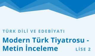10. Sınıf Türk Dili ve Edebiyatı 12.Bölüm