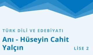 10. Sınıf Türk Dili ve Edebiyatı 14.Bölüm