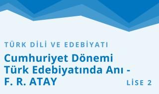10. Sınıf Türk Dili ve Edebiyatı 15.Bölüm