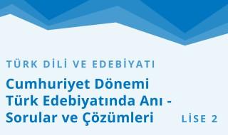 10. Sınıf Türk Dili ve Edebiyatı 16.Bölüm