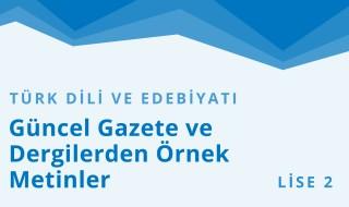 10. Sınıf Türk Dili ve Edebiyatı 18.Bölüm