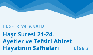 11. Sınıf Anadolu İmam Hatip 2.Bölüm