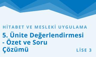 11. Sınıf Anadolu İmam Hatip 25.Bölüm