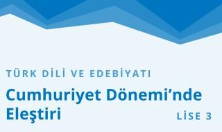 11. Sınıf Türk Dili ve Edebiyatı 15.Bölüm
