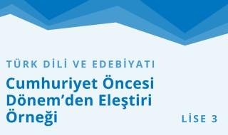 11. Sınıf Türk Dili ve Edebiyatı 18.Bölüm