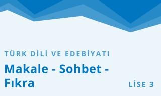 11. Sınıf Türk Dili ve Edebiyatı 29.Bölüm