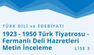 11. Sınıf Türk Dili ve Edebiyatı 8.Bölüm