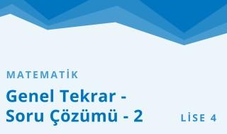 12. Sınıf Matematik 18.Bölüm