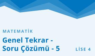 12. Sınıf Matematik 24.Bölüm