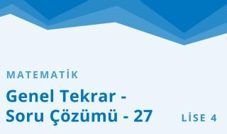 12. Sınıf Matematik 63.Bölüm