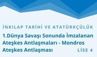 12. Sınıf T.C. İnkılap Tarihi ve Atatürkçülük 11.Bölüm