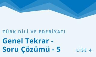 12. Sınıf Türk Dili ve Edebiyatı 19.Bölüm