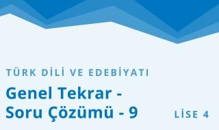 12. Sınıf Türk Dili ve Edebiyatı 25.Bölüm