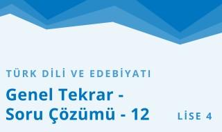 12. Sınıf Türk Dili ve Edebiyatı 31.Bölüm