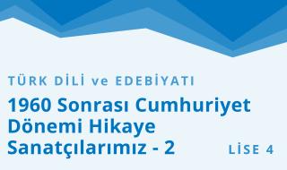 12. Sınıf Türk Dili ve Edebiyatı 8.Bölüm