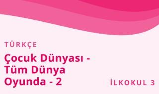 3. Sınıf Türkçe 15.Bölüm