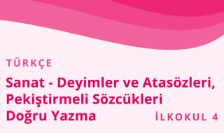 4. Sınıf Türkçe 20.Bölüm