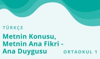 5. Sınıf Türkçe 6.Bölüm