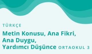 7. Sınıf Türkçe 3.Bölüm