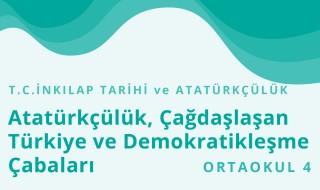 8. Sınıf T.C. İnkılap Tarihi ve Atatürkçülük 22.Bölüm