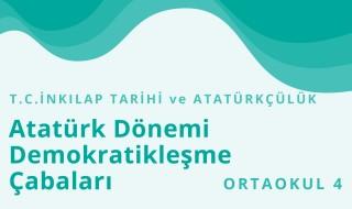 8. Sınıf T.C. İnkılap Tarihi ve Atatürkçülük 6.Bölüm
