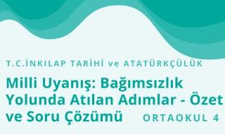 8. Sınıf T.C. İnkılap Tarihi ve Atatürkçülük 7.Bölüm