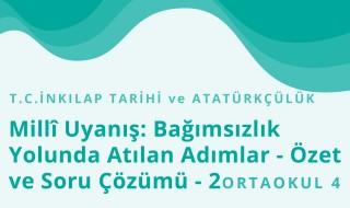 8. Sınıf T.C. İnkılap Tarihi ve Atatürkçülük 9.Bölüm