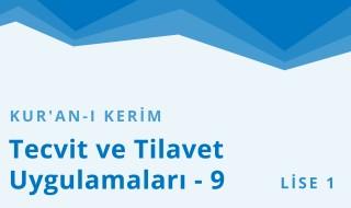 9. Sınıf Anadolu İmam Hatip 29.Bölüm