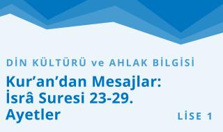 9. Sınıf Din Kültürü ve Ahlak Bilgisi 3.Bölüm