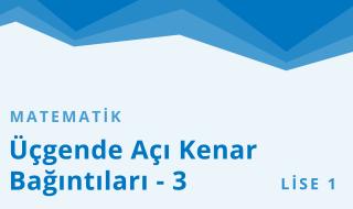 9. Sınıf Matematik 3.Bölüm