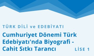 9. Sınıf Türk Dili ve Edebiyatı 10.Bölüm